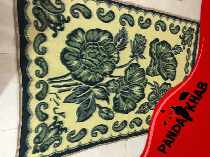 پتو مینک طرح قالیچه دونفره