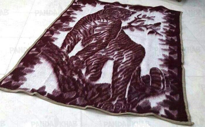 پتو طرح پلنگی نمدی اصفهان