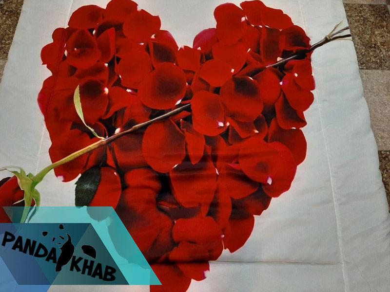 خرید روتختی سه بعدی طرح قلب